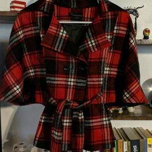 Plaid wool waist coat